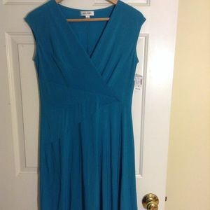 Teal Dress -Work & Play! Soft Drape. UniqueDetails
